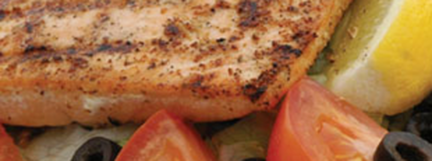 Grill Salmon salad Slider